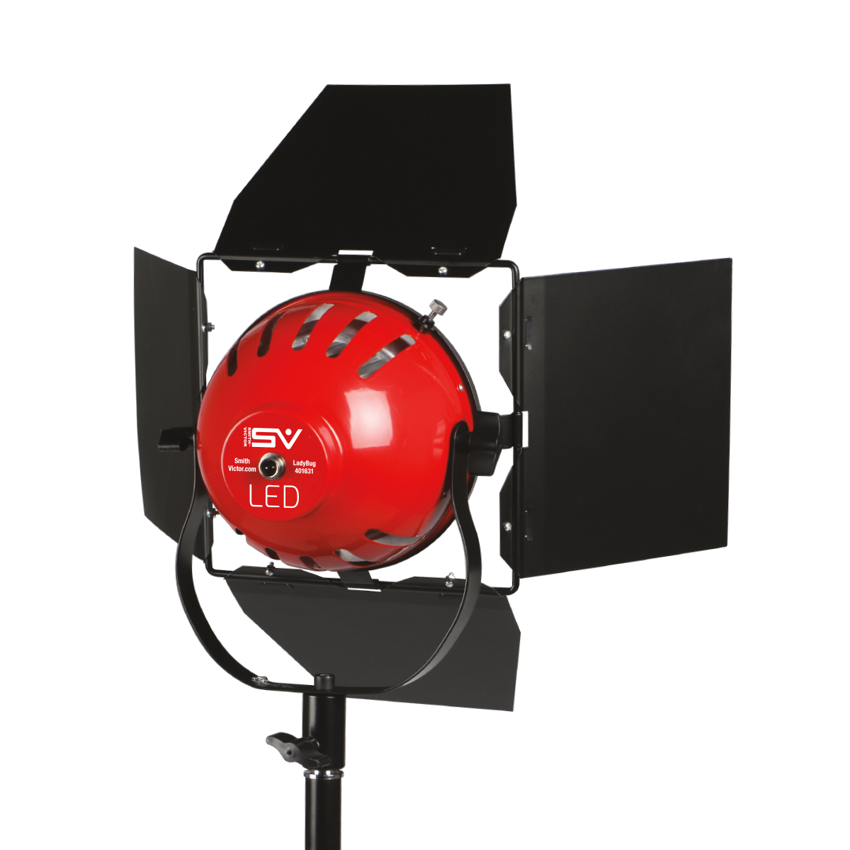 7c0a4a5602ab LadyBug 1500 Soft LED 3-Light kit1500 watt 3-point lighting kit with boom,  dimmers, barn-doors and travel case!